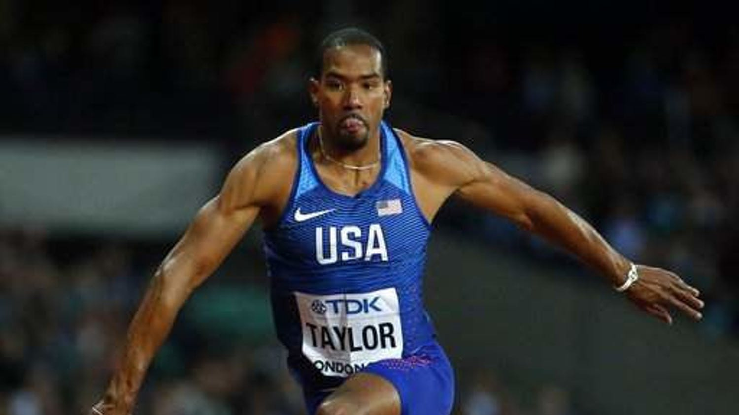 Former Gator and two-time Olympic gold medalist Christian Taylor competed Thursday in Day 1 of the Pepsi Florida Relays.