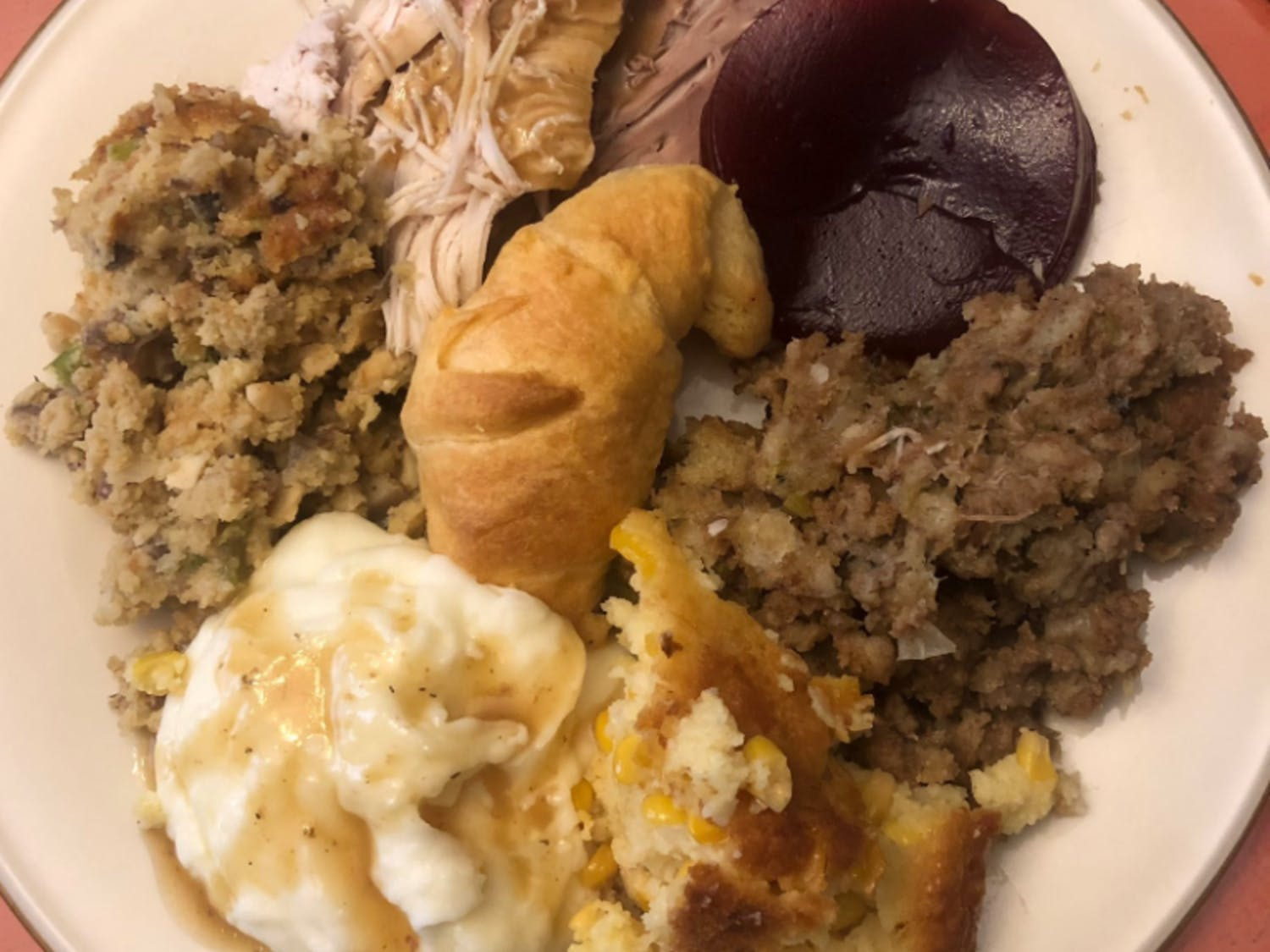 Reagan Hollan's Thanksgiving plate
