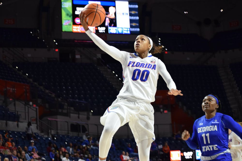 """<p dir=""""ltr""""><span data-mce-mark=""""1"""">Florida guard Delicia Washington's jumper gave UF a two-point lead with just 15 seconds left, and the Gator</span>s snapped a five-game losing streak with a 57-55 win over Alabama.</p> <p><span data-mce-mark=""""1"""">&nbsp;</span></p>"""