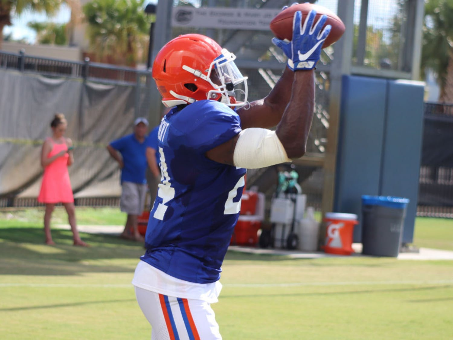 Gators running back Iverson Clement played against Charleston Southern in the season opener. He had one carry for five yards.