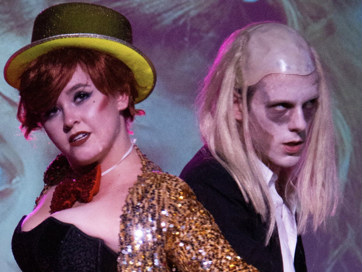 "Garret Pogue (left) as Columbia and Devin Huchingson (right) as Riff Raff in last year's ""The Rocky Horror Picture Show"" performance at High Dive."