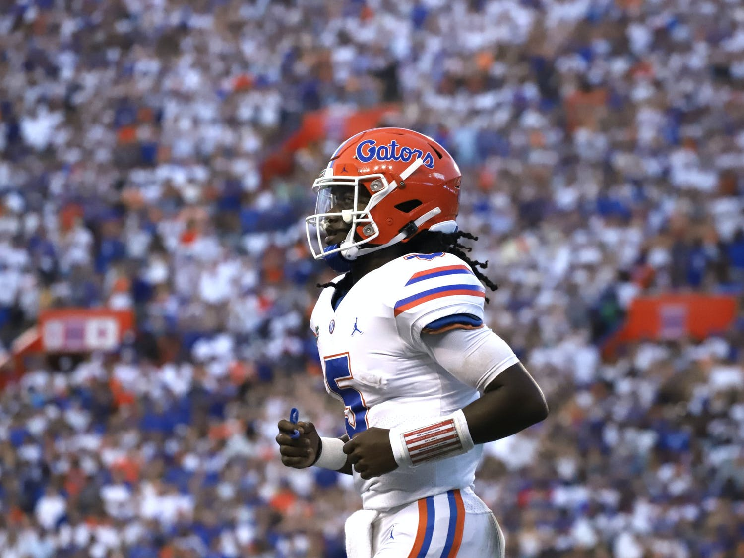 Florida's Emory Jones on the field during the Gators' season-opening 35-14 victory over Florida Atlantic on Sept. 4.