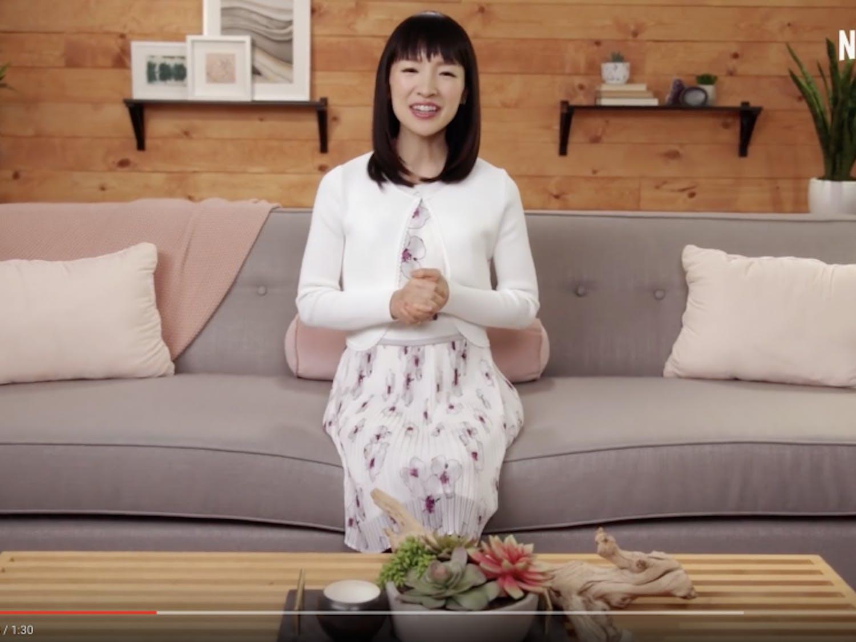 "Tidying guru Marie Kondo helps people tidy up their homes in Netflix's""Tidying Up With Marie Kondo."""