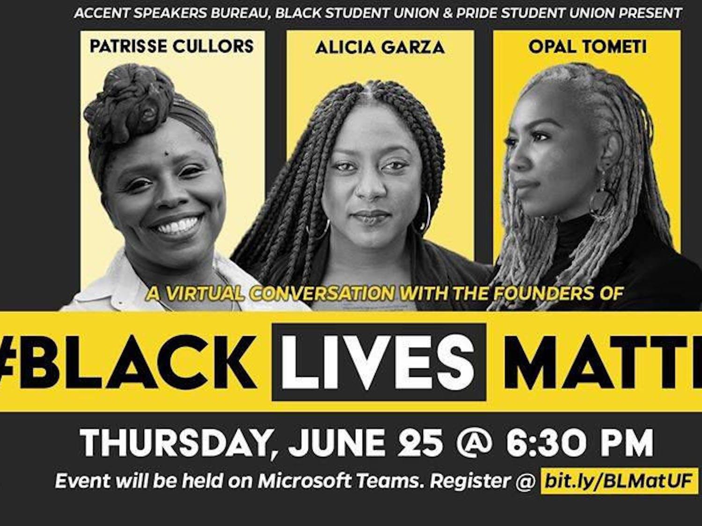 Patrisse Cullors, Alicia Garza and Opal Tometi will speak June 25 at 6:30 p.m.