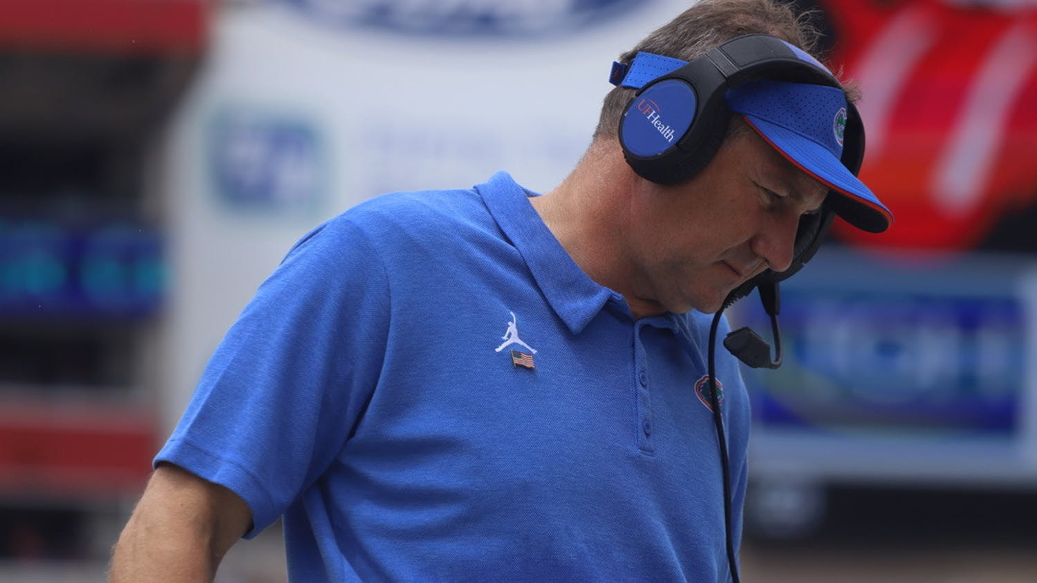 Florida head coach Dan Mullen during the Gators' game against South Florida on Sept. 11, 2021.