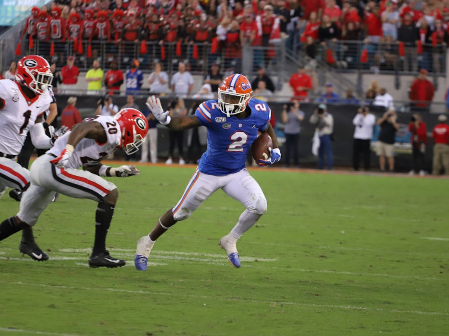 Running back Lamical Perine is one of 22 seniors on Florida's roster that will be playing their final game in the Swamp on Saturday.