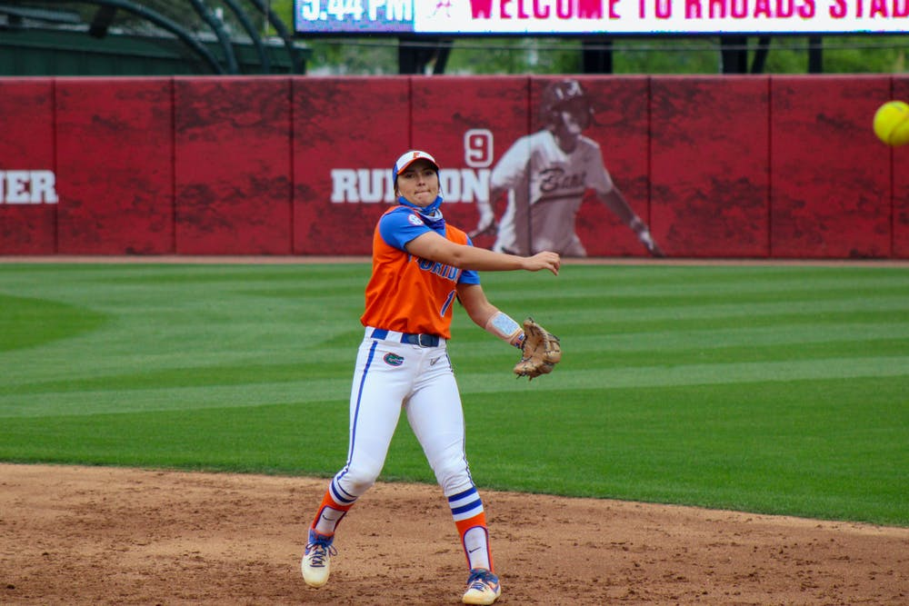 <p>Hannah Adams came up clutch for the Gators in their 3-2 victory over Mizzou Sunday.</p>