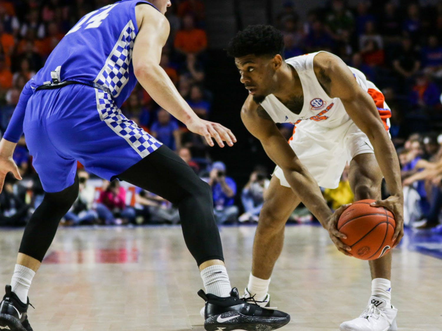 Florida guard Jalen Hudson scored 15 points on 5-of-12 shooting in UF's 73-61 loss to Tennessee on Saturday.