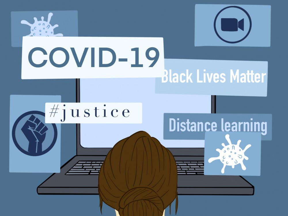 covid blm online learning graphic