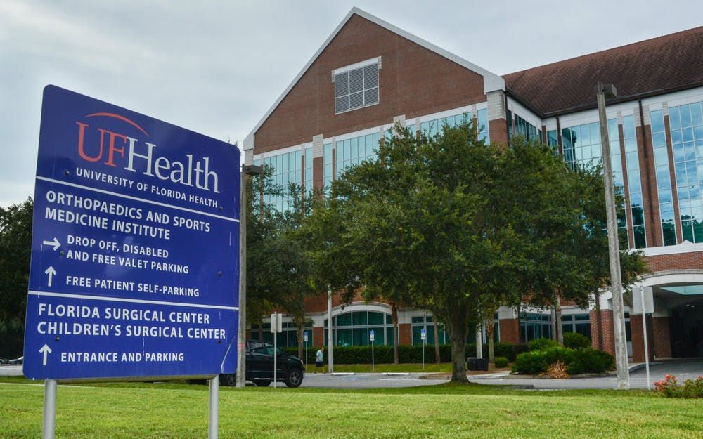 <p>The UF Health Orthopaedics ans Sports Medicine Institute, located at 3450 SW Hull Road on Tuesday, July 27, 2021. The building, which houses comprehensive rehabilitation services, is one of many UF College of Medicine ventures operating under the new department of physical medicine and rehabilitation, the college's first new clinical department in 30 years.</p>