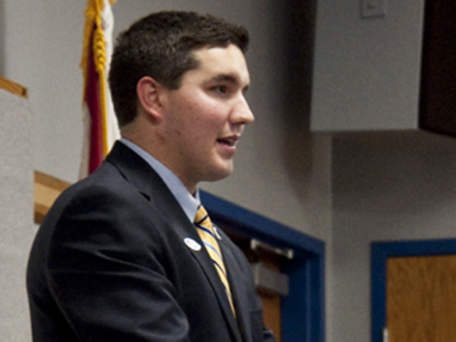 Then Student Body President Ben Meyers announced that he would be resigning from his position for personal reasons in October 2011.