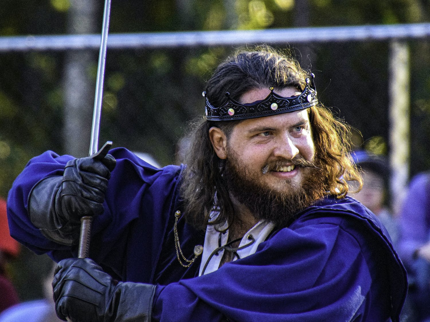 This year marks the Gainesville Hoggetowne Medieval Faire's 34th anniversary. The multi-day event draws in tens of thousands of people, and was so popular that organizers added an extra weekend this year to help with overcrowding. Visitors can eat fried fair food, buy from over 160 merchants, watch people fight with swords and more.