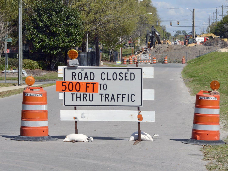Construction on Depot Avenue.