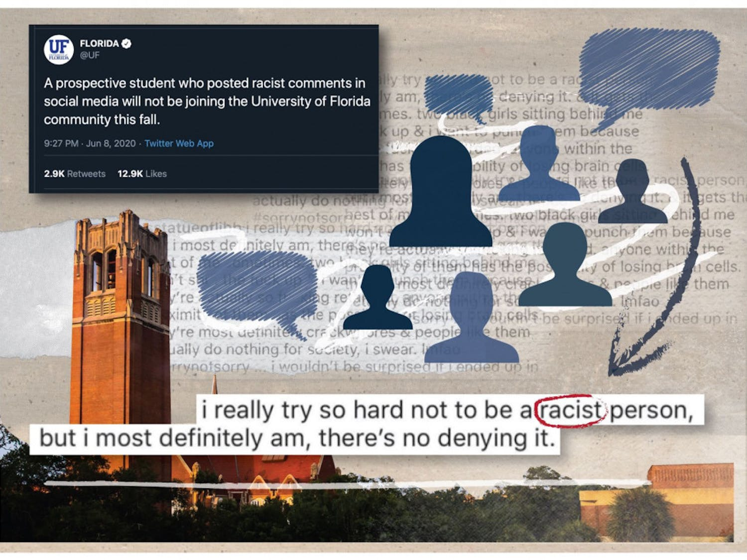 UF announced it was investigating racist comments made by a prospective UF student.