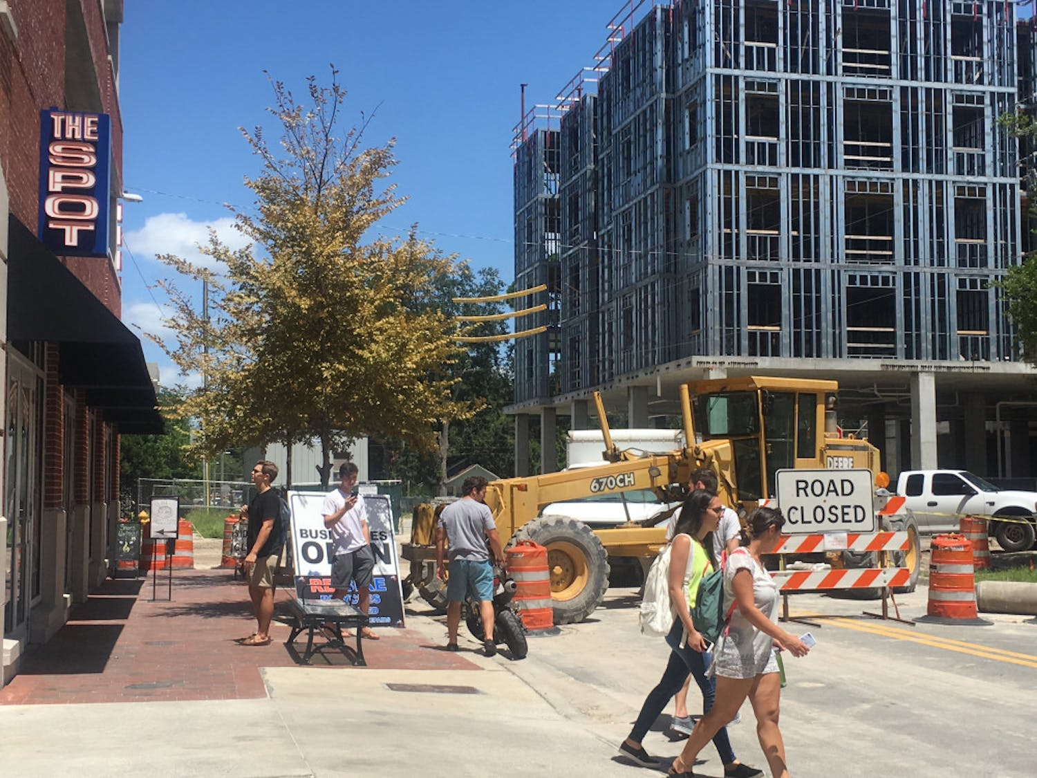 [FILE PHOTO] The Spot, 16 NW 18th Ave., is one of several Midtown businesses neighboring a construction zone. Renovations are expected to last through October.