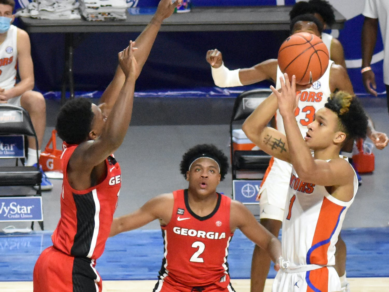 UF's performance Saturday contrasts with its lifeless 18-point drubbing against the same Kentucky team a month ago and indicates Florida's greatest area of growth: resilience. Photo from UF-Georgia game Feb. 20.