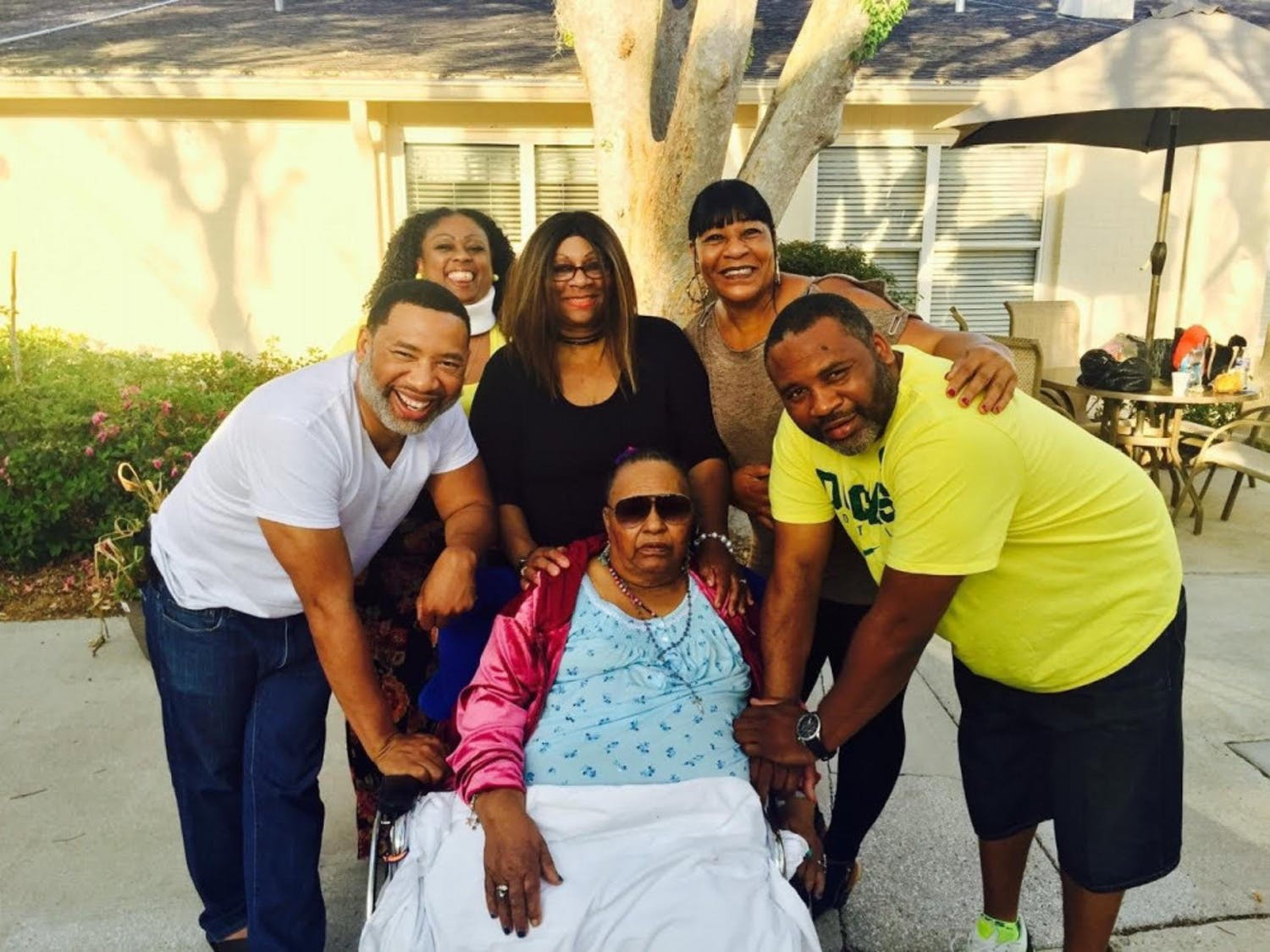 Ella Mae Gordon with five of her nine children. The 78-year-old, remembered for her big heart and unmatched baking skills, died on April 23 following a nearly month-long battle with COVID-19.