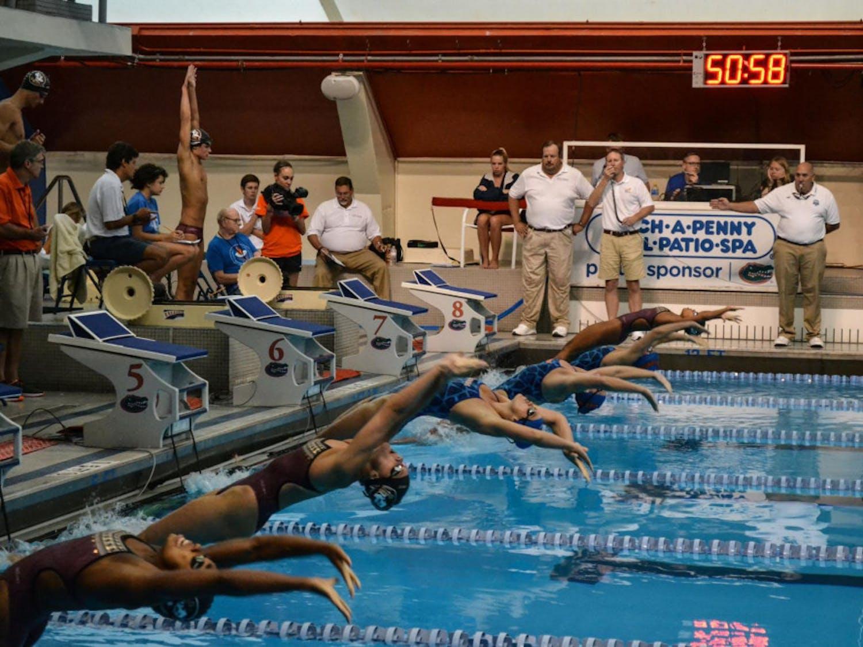 Backstroke race start