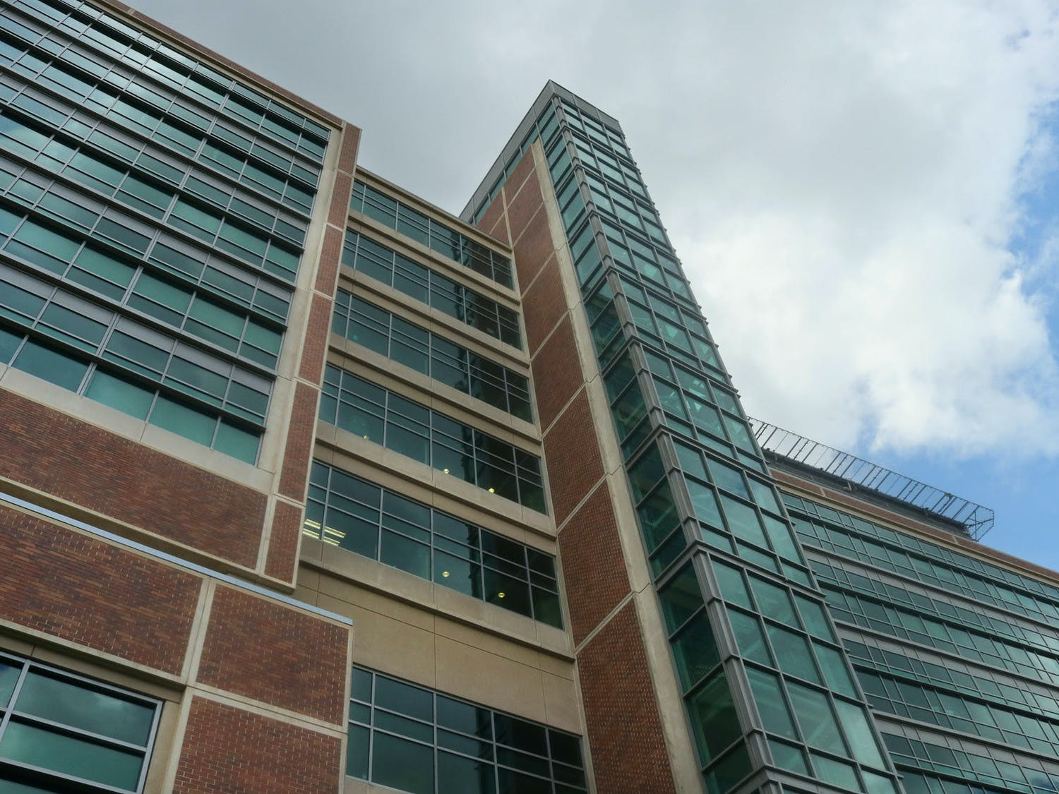 The UF Health Shands Hospital building in Gainesville, as seen on June 29, 2021, hosts over 1,100 licensed beds and services over 120,000 emergency room visits annually, according to UF Health.
