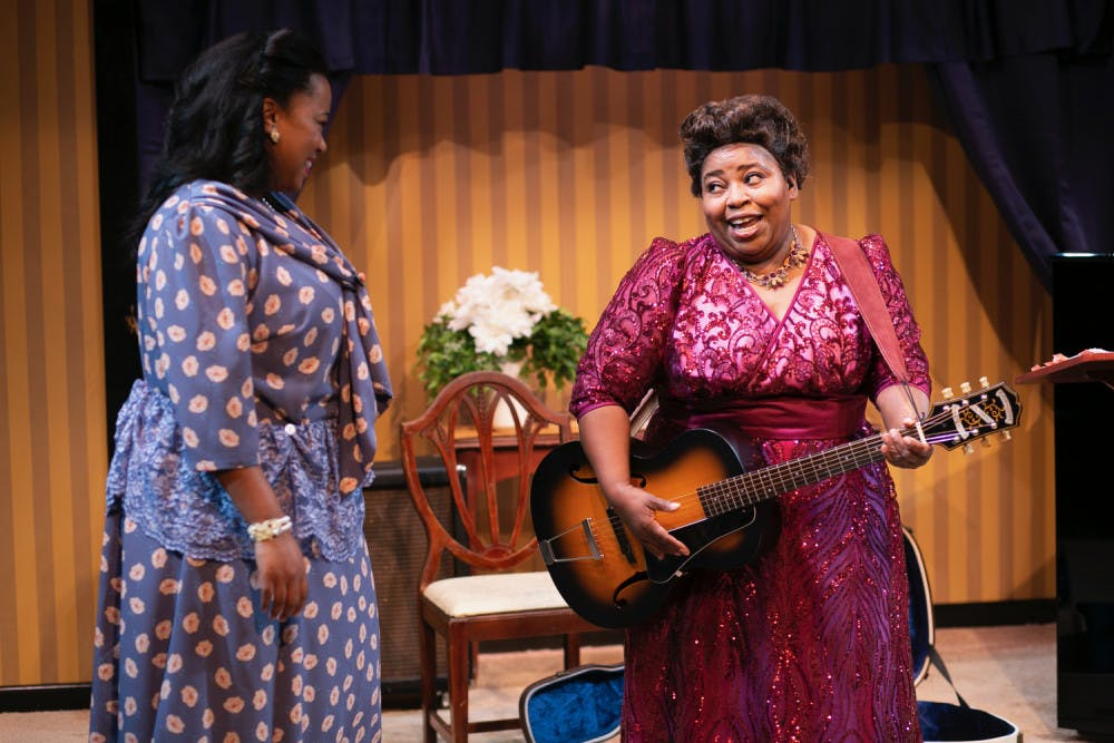 "<p><span>Hillary Scales-Lewis and Illeana Kirven in ""Marie and Rosetta."" Guitar player and gospel singer Sister Rosetta Tharpe is recognized today as a pioneer of rock 'n' roll.</span></p>"