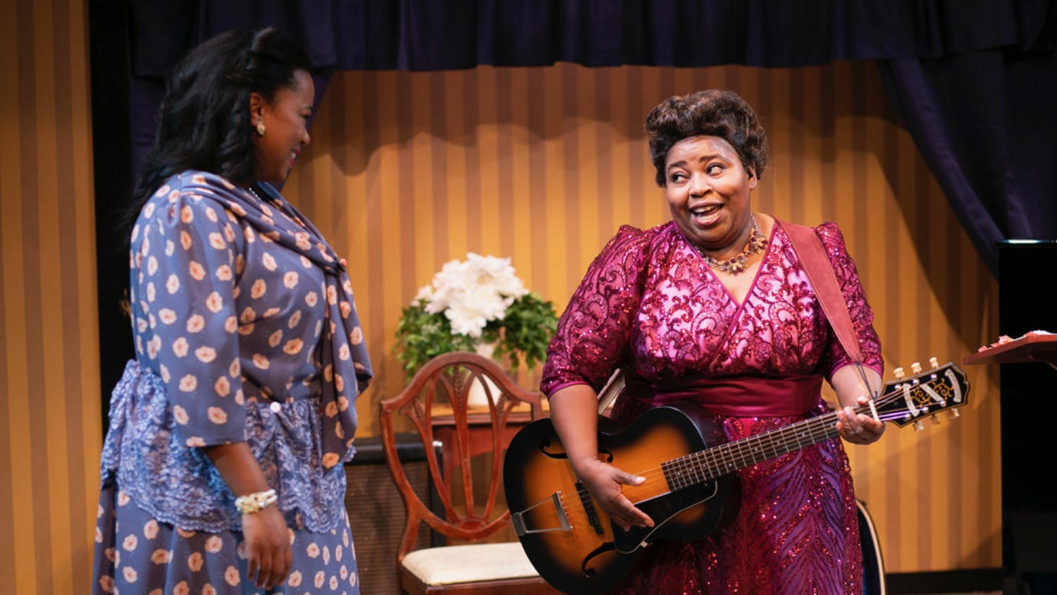 """Hillary Scales-Lewis and Illeana Kirven in """"Marie and Rosetta."""" Guitar player and gospel singer Sister Rosetta Tharpe is recognized today as a pioneer of rock 'n' roll."""