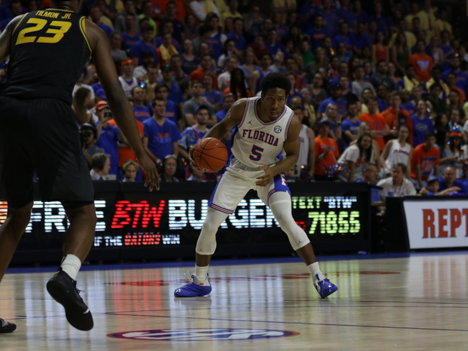 Senior guard KeVaughn Allen has scored in double figures in 22 of the Gators' 27 games this season, and he has led the team in scoring 11 times.