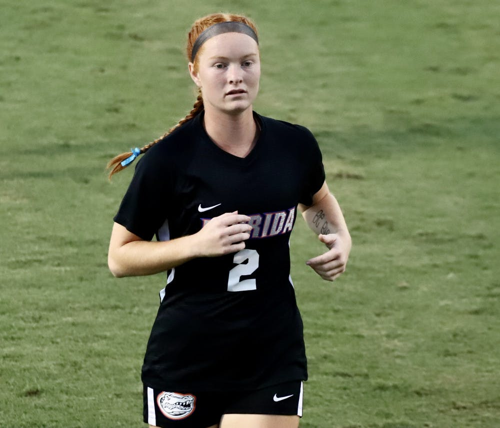<p>Cassidy Lindley at the Gators' game versus Tennessee earlier this season. Florida snapped its six-game losing streak Friday night with a redeeming win over Kentucky in the first game of the 2020 SEC Tournament.</p>