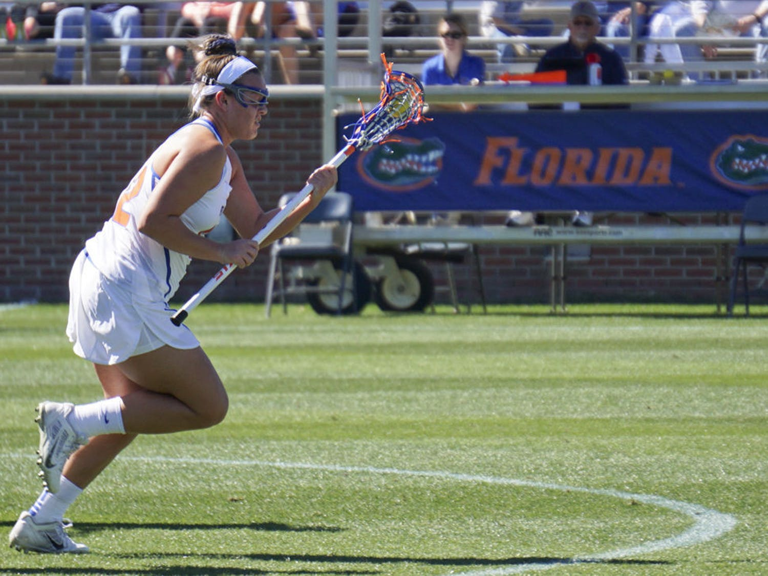 Senior Taylor Bresnahan scored a hat trick for Florida in a dominant, 14-7 victory over Lousiville.