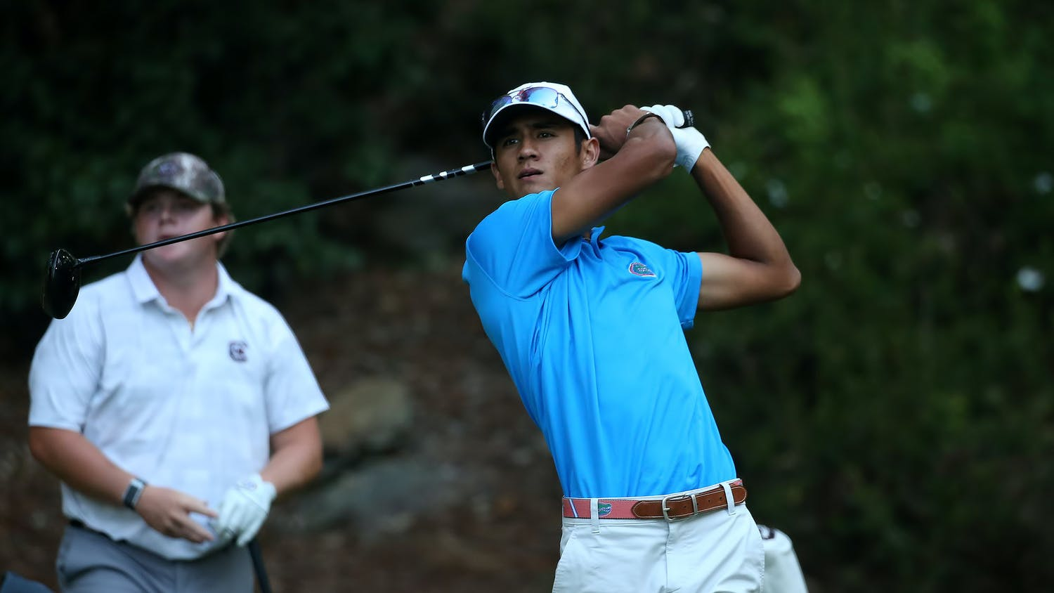 Florida's Ricky Castillo competes during the SEC Match Play Championships at Shoal Creek Club in Birmingham, Alabama.