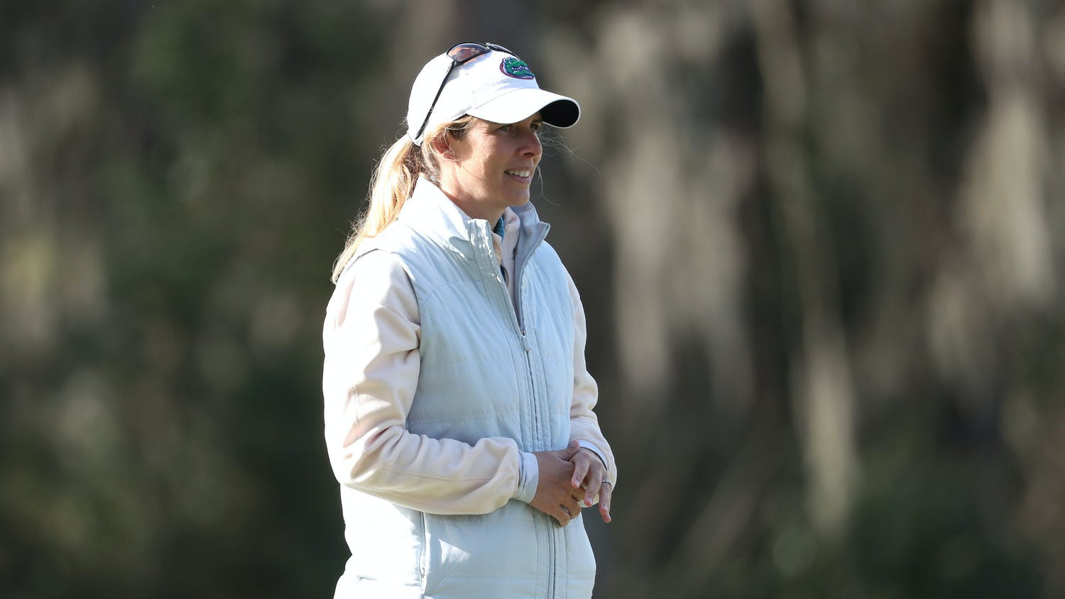 Florida Gators women's golf coach Emily Glaser on Monday, February 22, 2021 at the Mark Bostick Golf Course in Gainesville, FL. Photo courtesy of the UAA.
