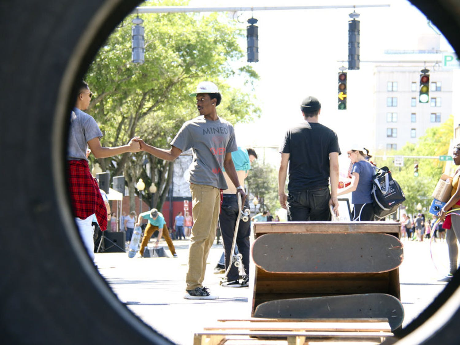Active Streets Gainesville took place Sunday afternoon, shutting down part of West University Avenue.