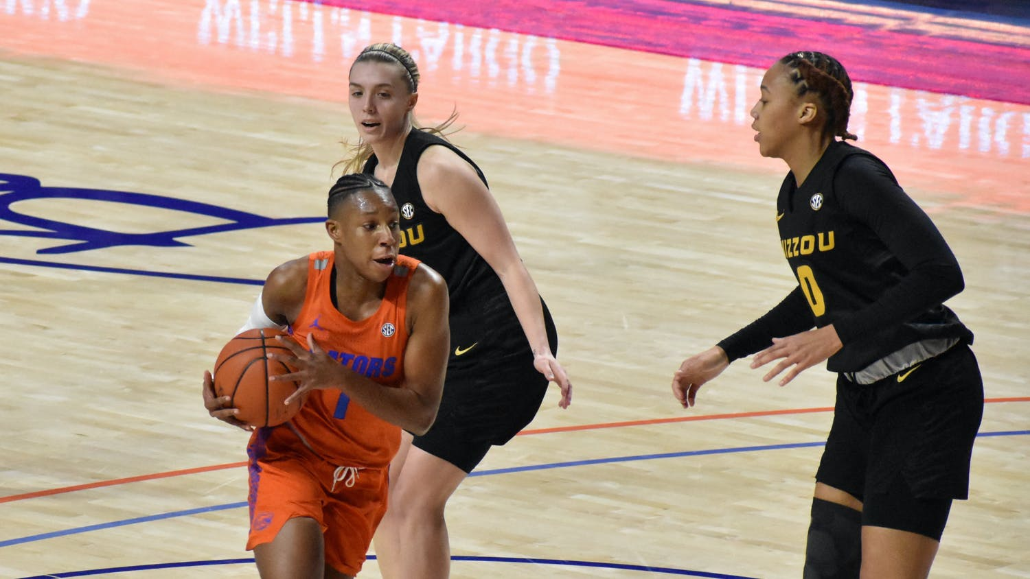 Kiara Smith, one of the Gators' top scorers, underperformed against Missouri Thursday night.