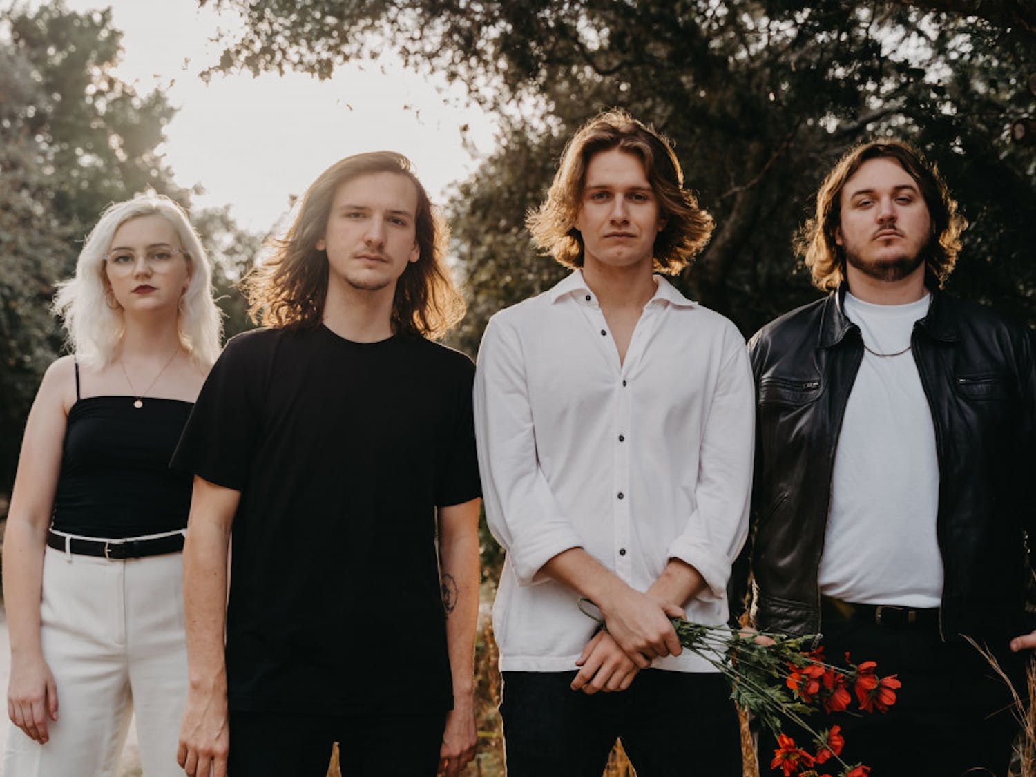 """(L-R) Madeline Jarman (bass), Tristan Duncan (guitar), Dillon Basse (vocals) and Adrian Walker (drums) of flipturn will be kickstarting their 2020 """"Something You Needed"""" tour at High Dive this Saturday."""