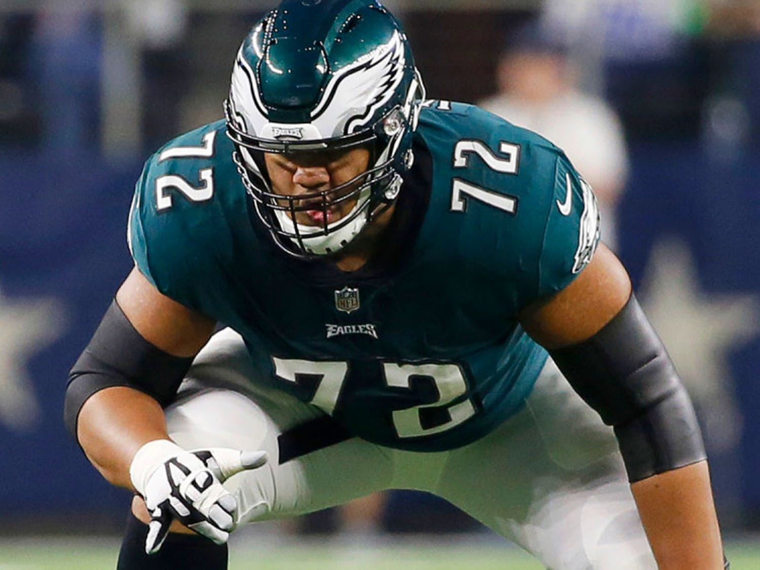 Eagles starting left tackle Halapoulivaati Vaitai has one of the most unique names of the players competing in Super Bowl LII.