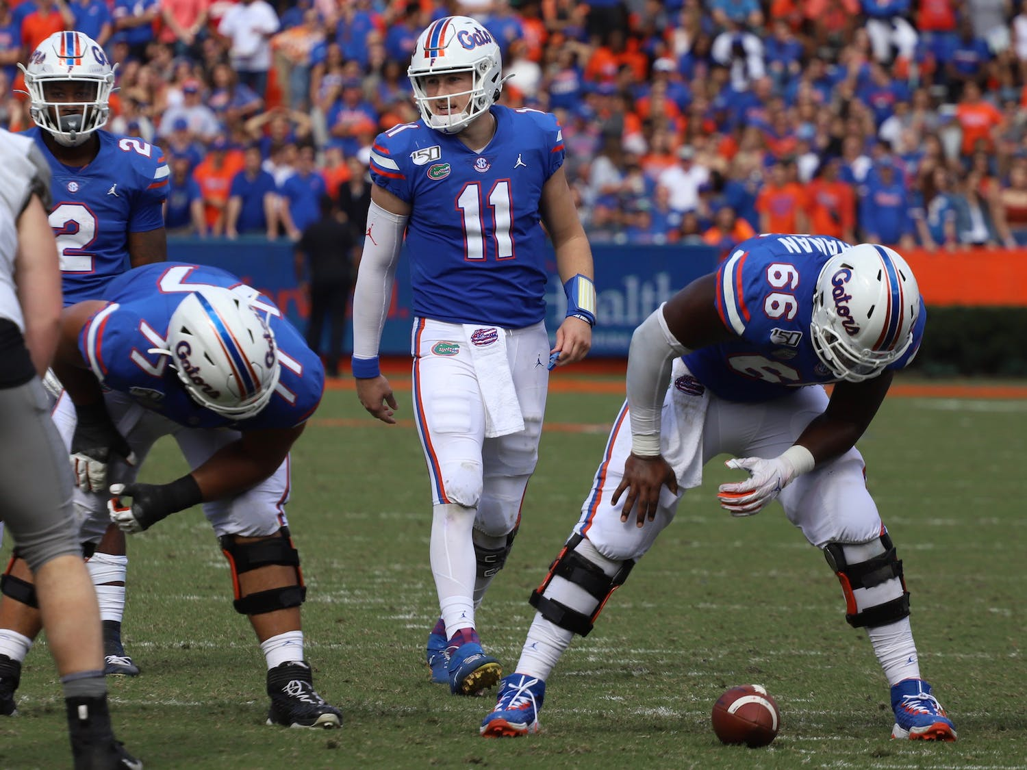 Florida's offense managed only 14 first-half points despite the dominating defensive performance.