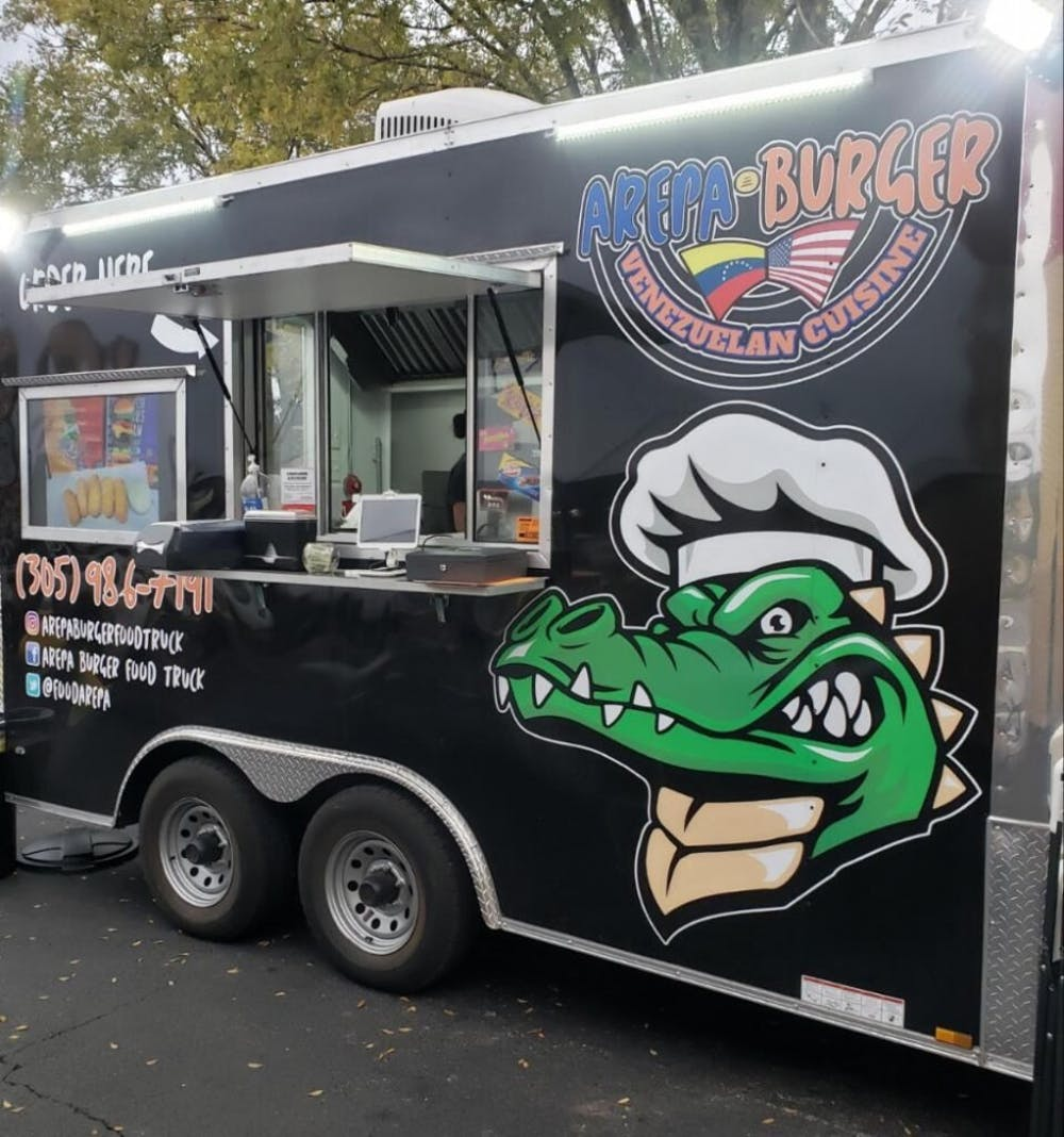 """<p><span id=""""docs-internal-guid-04a75e2b-7fff-f6ce-7881-452abe793b91""""><span>A year after fleeing Venezuela, 59-year-old Victor Suarez opened Arepa Burger Food Truck because all he knew was food in his home country.</span></span></p>"""