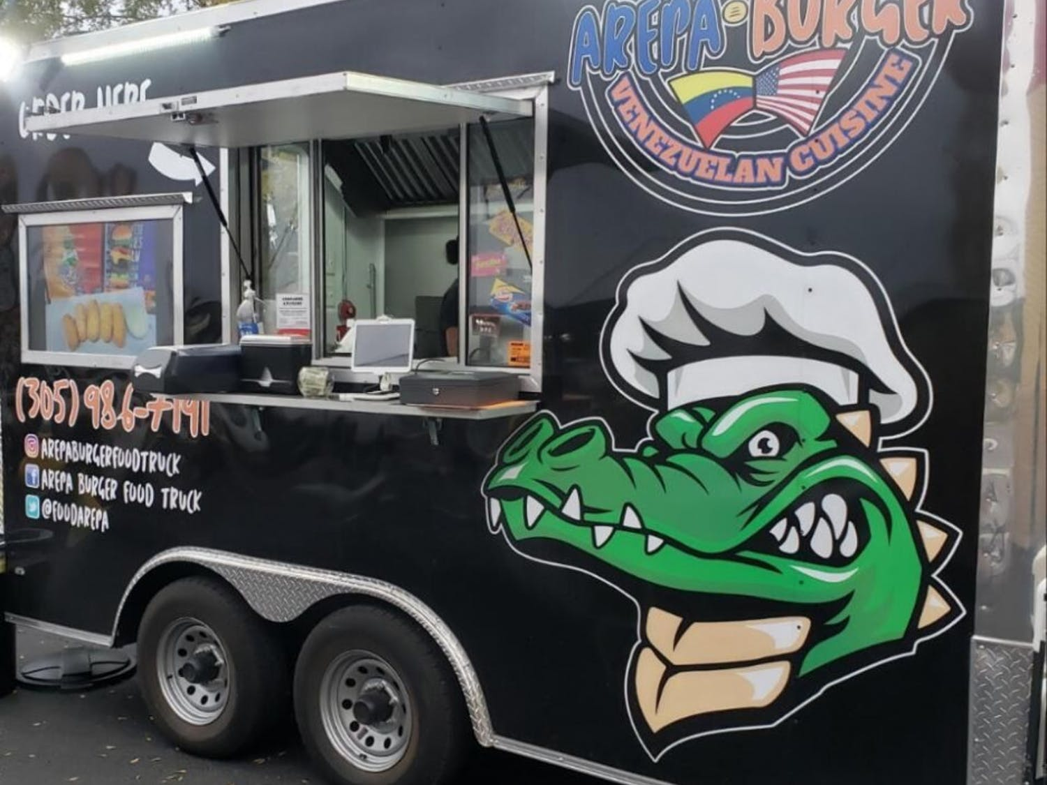 A year after fleeing Venezuela, 59-year-old Victor Suarez opened Arepa Burger Food Truck because all he knew was food in his home country.