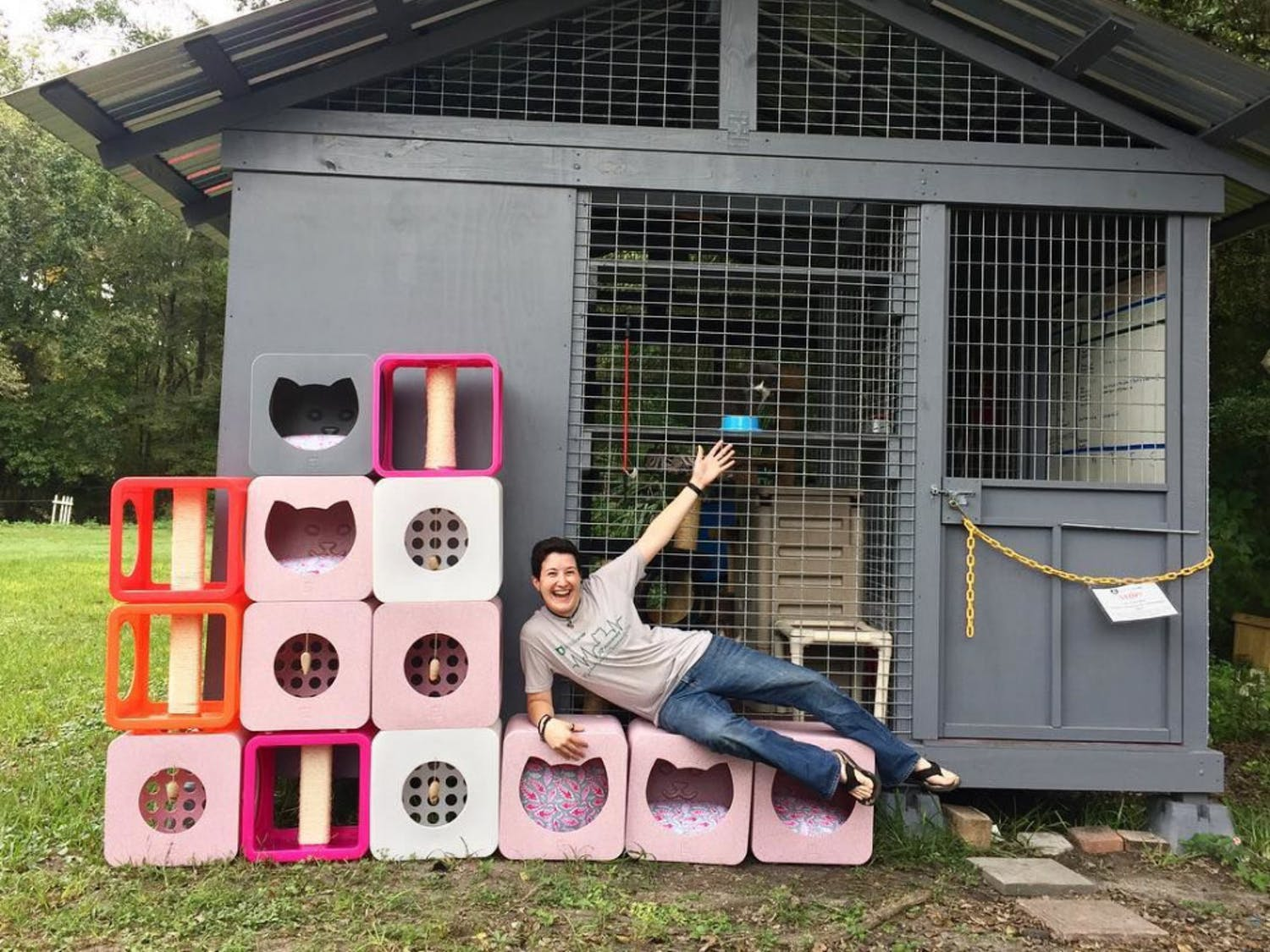 Operation Catnip's catio which will be featured again on this year's tour.