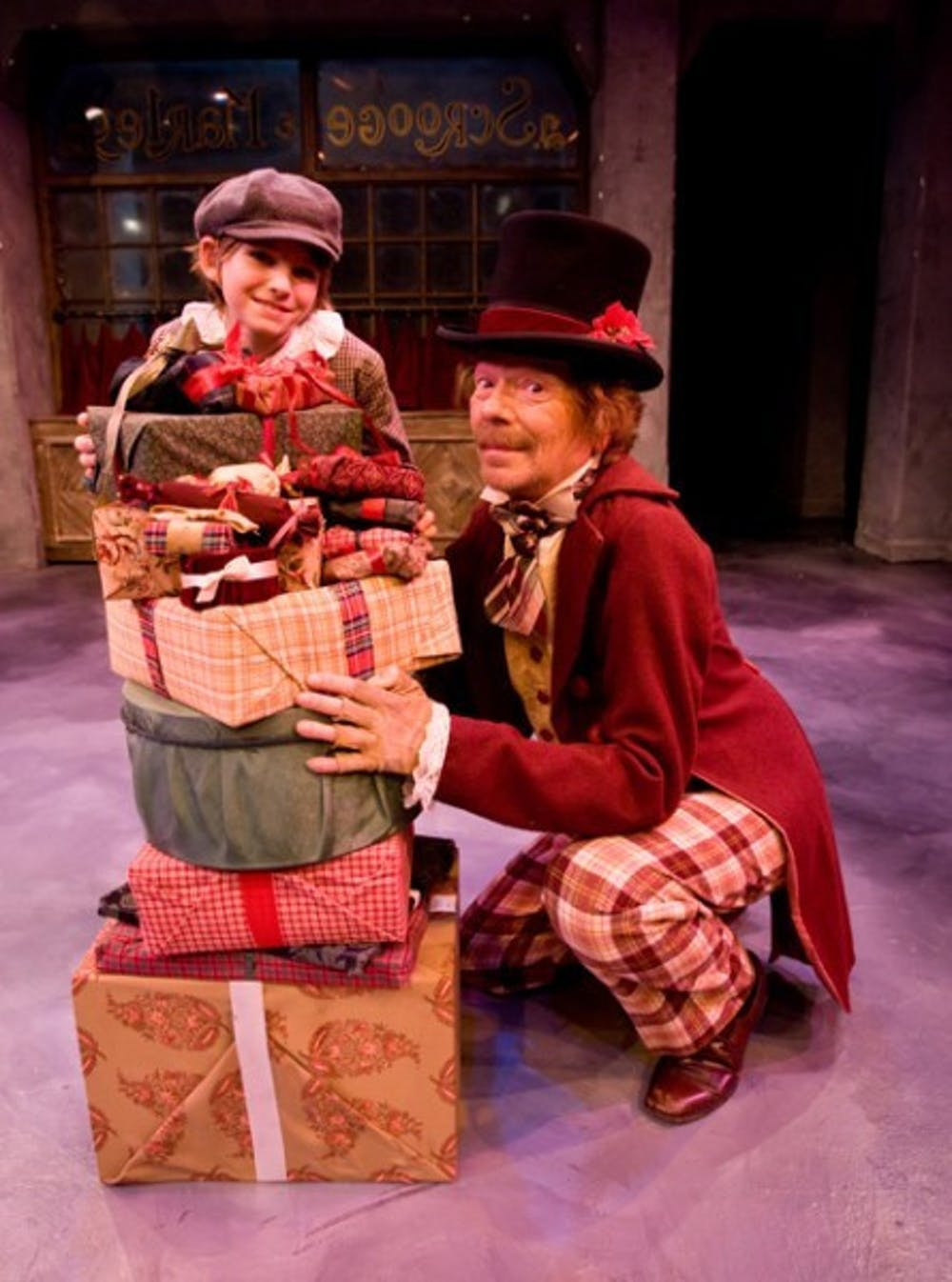 """<p>Tiny Tim (Whitney Humphrey) and Scrooge (Rusty Salling) starred in the 2009 production of """"A Christmas Carol."""" &nbsp;</p>"""
