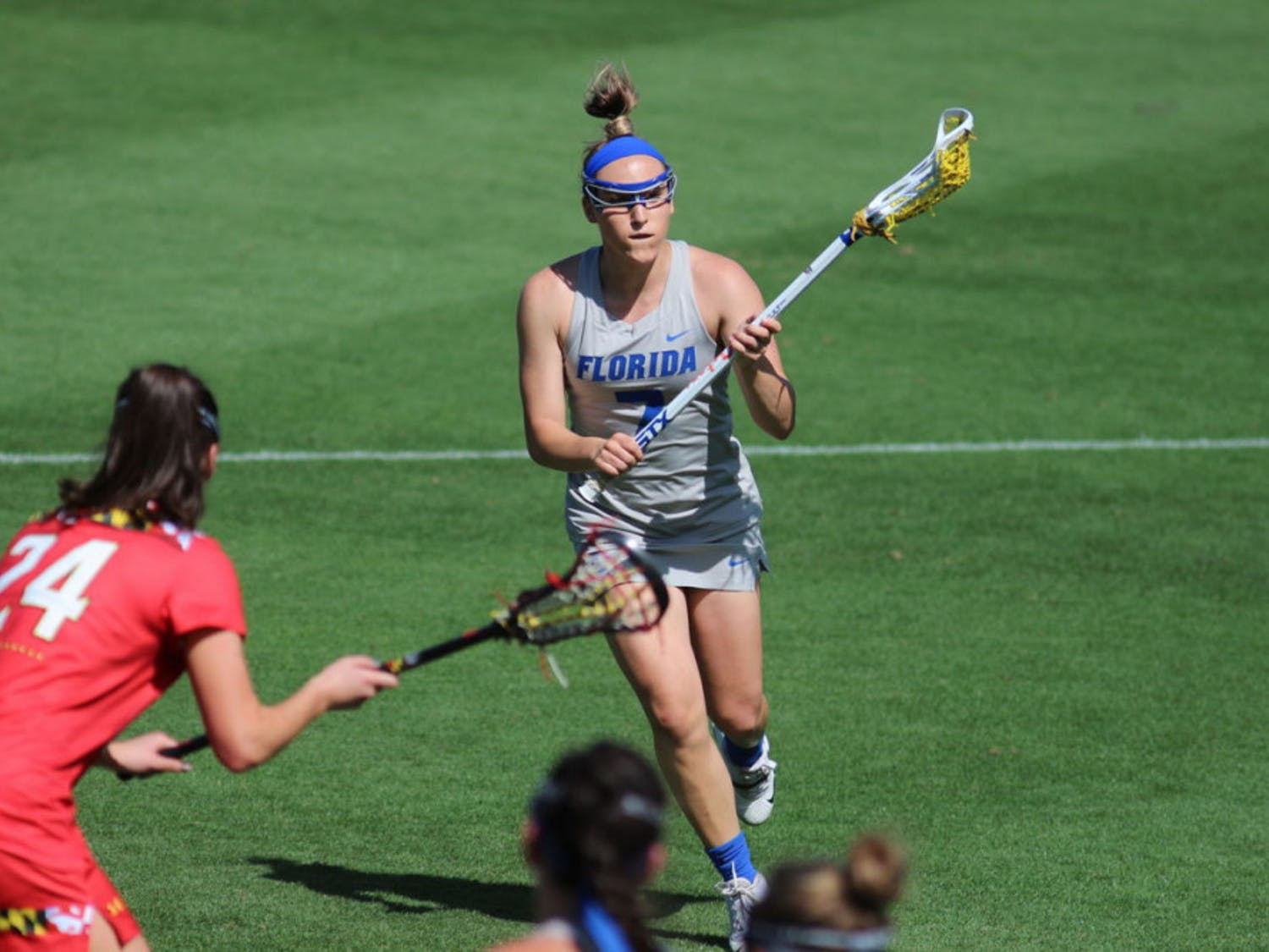 Senior Shayna Pirreca and her sister, Sydney, led UF to victory over Colorado in the second round of the NCAA Tournament on Sunday with a combined seven goals.