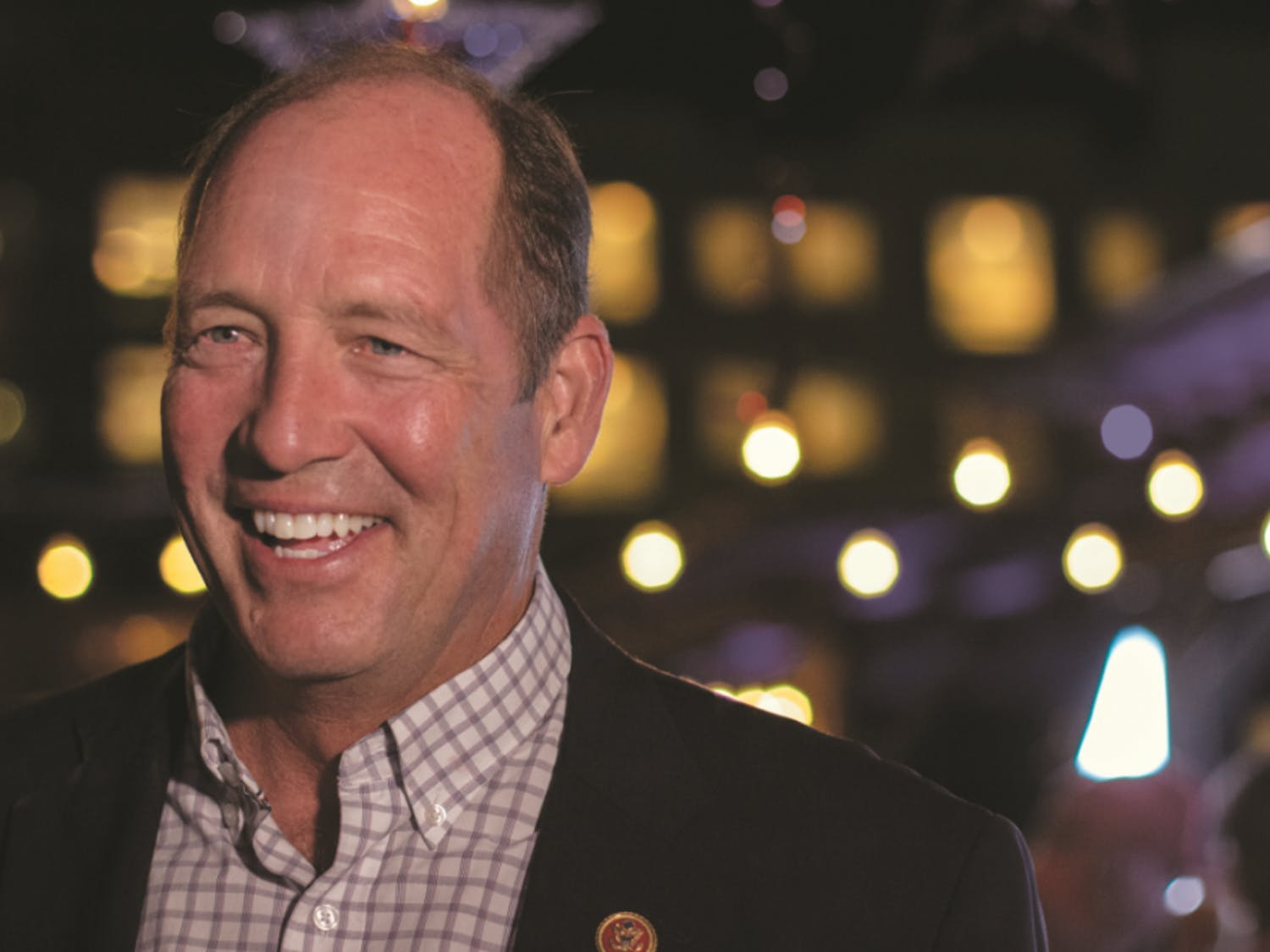 """U.S. Rep. Ted Yoho smiles while he waits for the final results of Florida's 3rd Congressional District election. """"I want to see the final results, but I feel good,"""" Yoho said."""