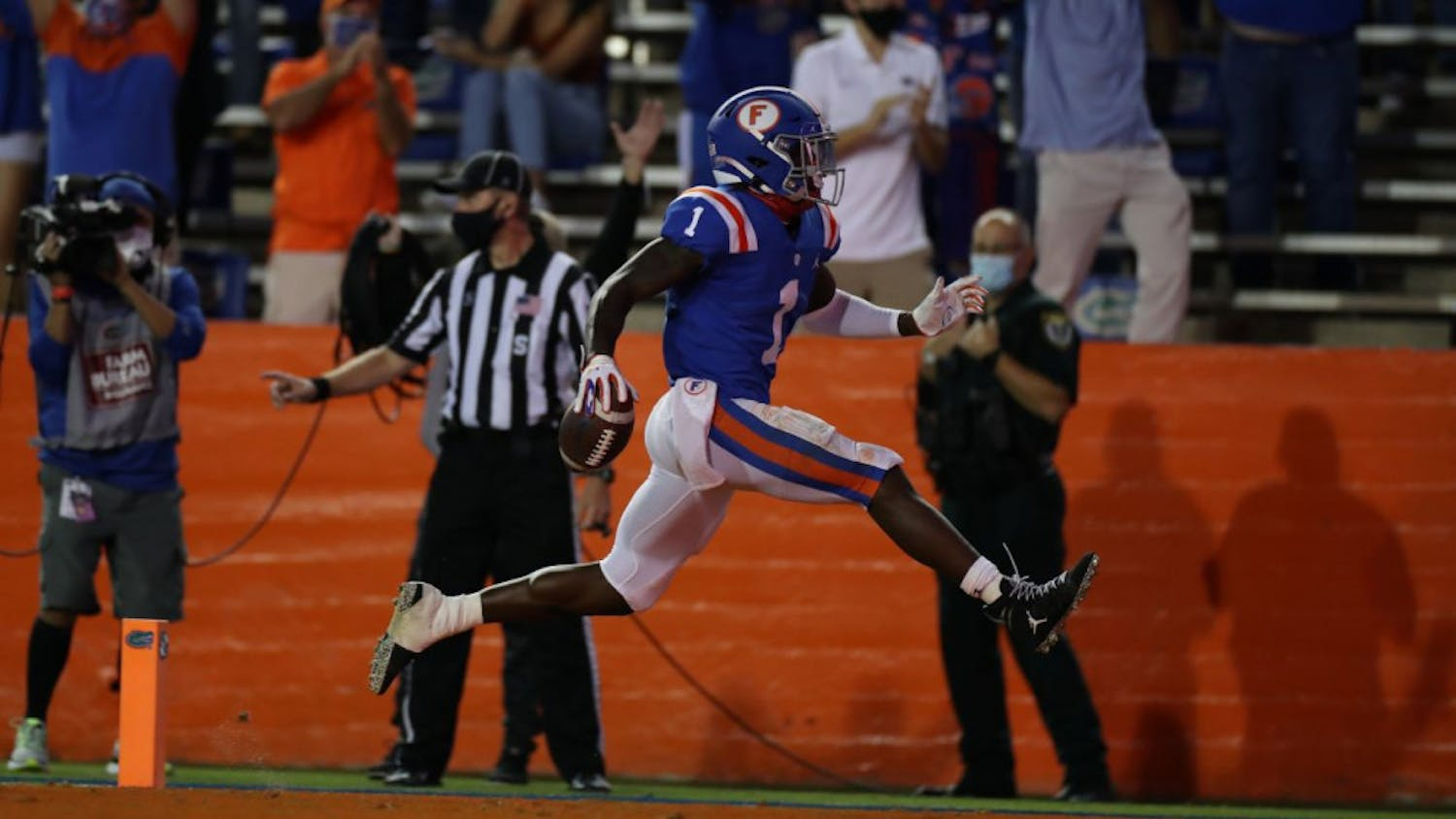 Senior Kadarius Toney had three touchdowns Saturday night in Florida's drubbing of Missouri at home.