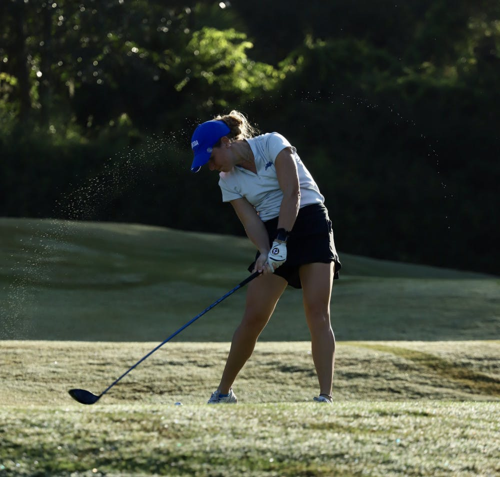 <p>Junior Lauren Waidner at Mark Bostick Golf Course. The Gators' fall season begins Oct. 5 at the Blessings College Invitational.</p>