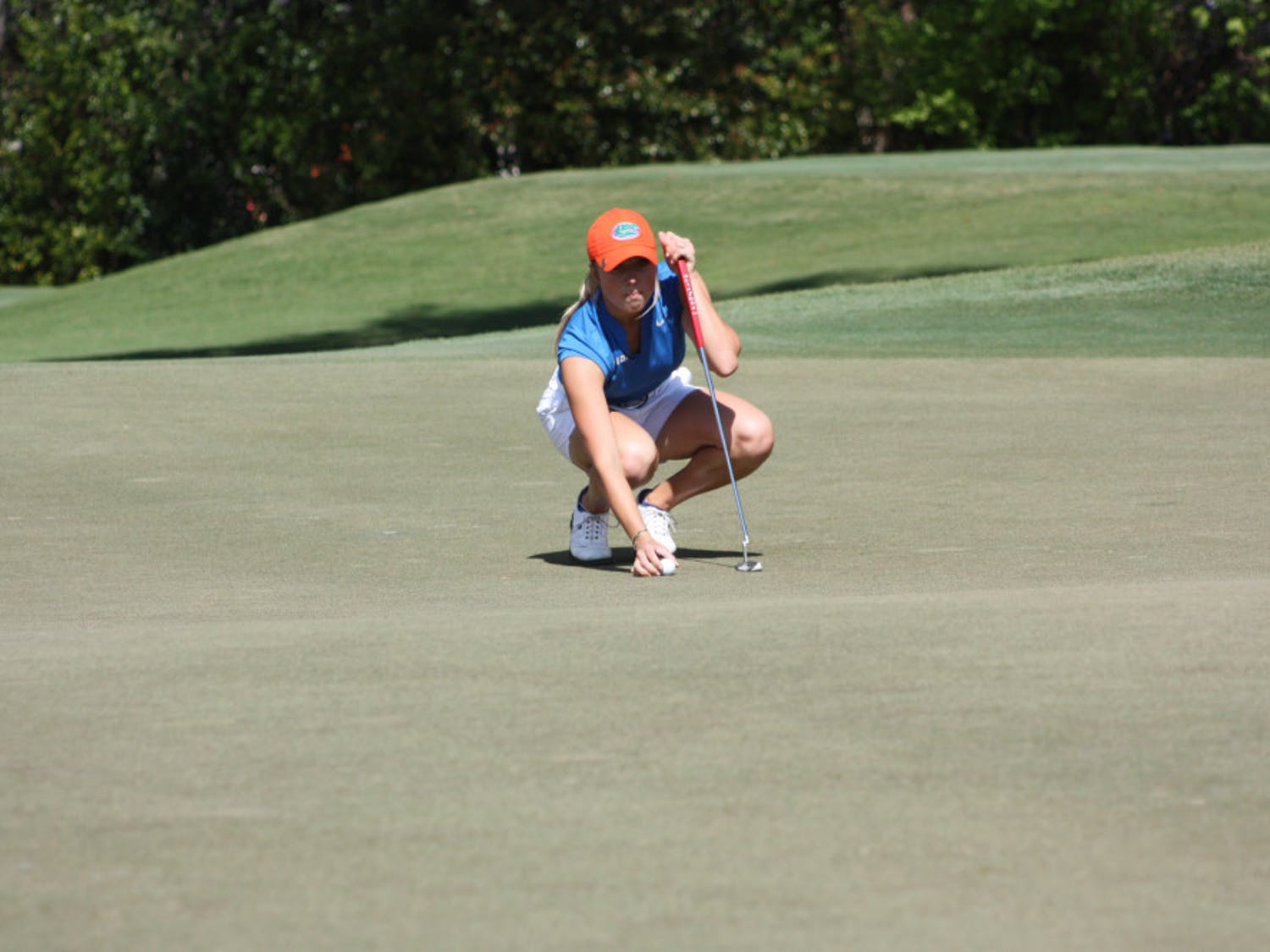 Sierra Brooks won her match over Ole Miss' Ellen Hutchinson-Key 5 and 3 at the SEC Women's Golf Championship on Saturday. She never trailed in the match.