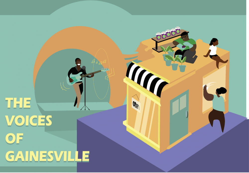 """<p class=""""p1"""">This story is a part of an Avenue series called """"The Voices of Gainesville"""" meant to spotlight black-owned businesses, black artists and black musicians in Gainesville.</p>"""