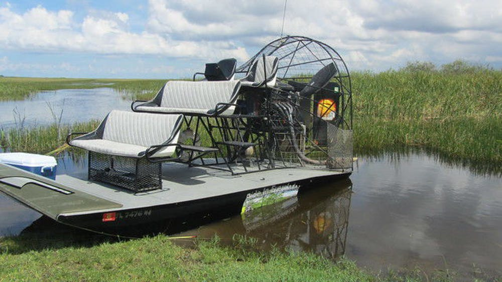 <p>Airboat in the Everglades</p>