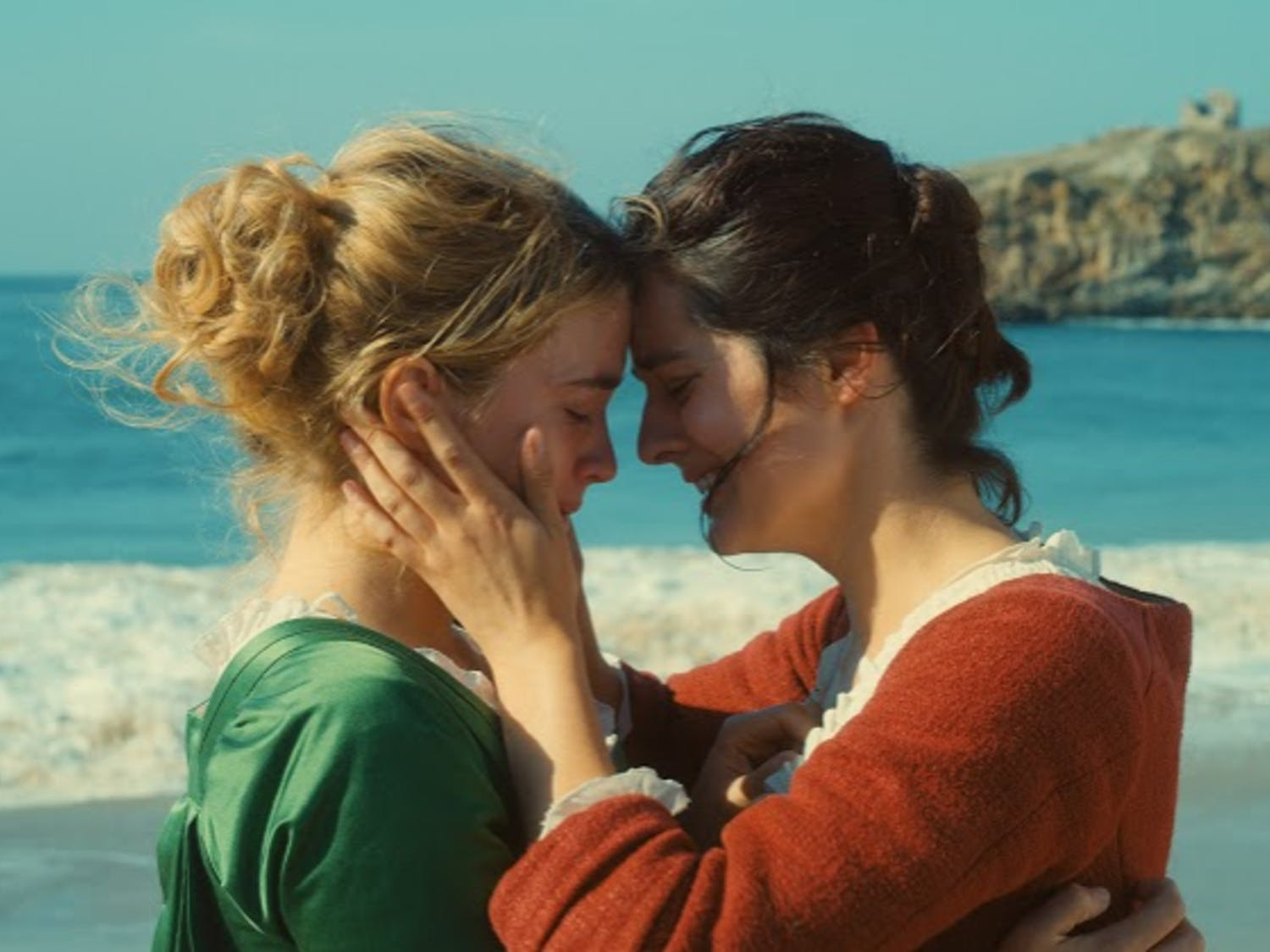 """Adèle Haenel as Héloïse, left, and Noémie Merlant as Marianne play two star-crossed lovers in """"Portrait of a Lady on Fire,"""" directed by Céline Sciamma."""