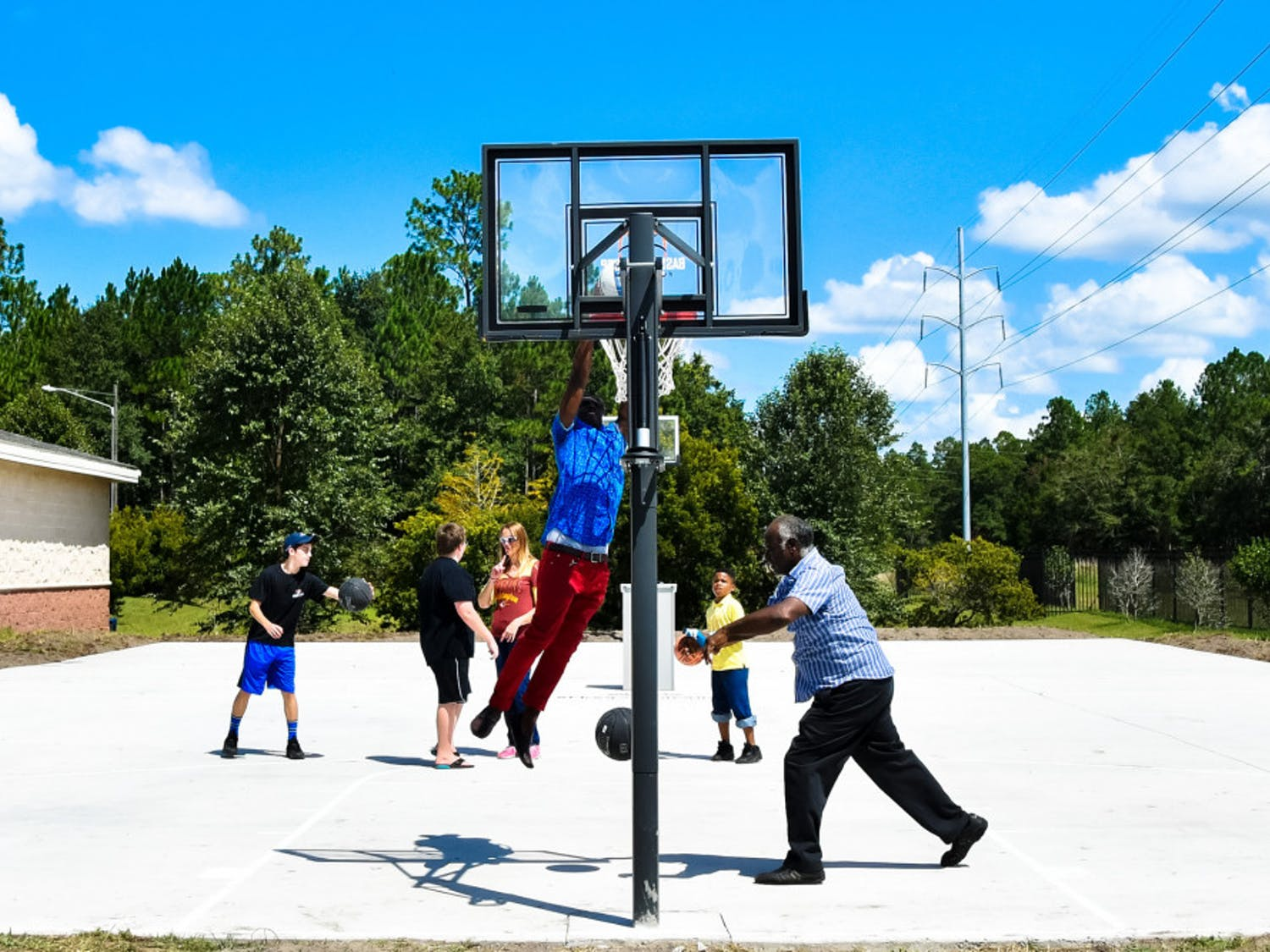 The court located at theUpper Room of Greater Gainesville church was also built as part of theBasketball Cop Foundation inAugust 2016.
