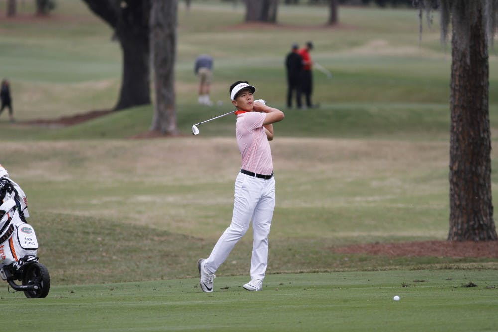 <p>Sophomore Andy Zhang is tied for first heading into the final day of the NCAA Kissimmee Regional. He's at 8 under with freshman John Axelsen just behind him at 7 under.</p>