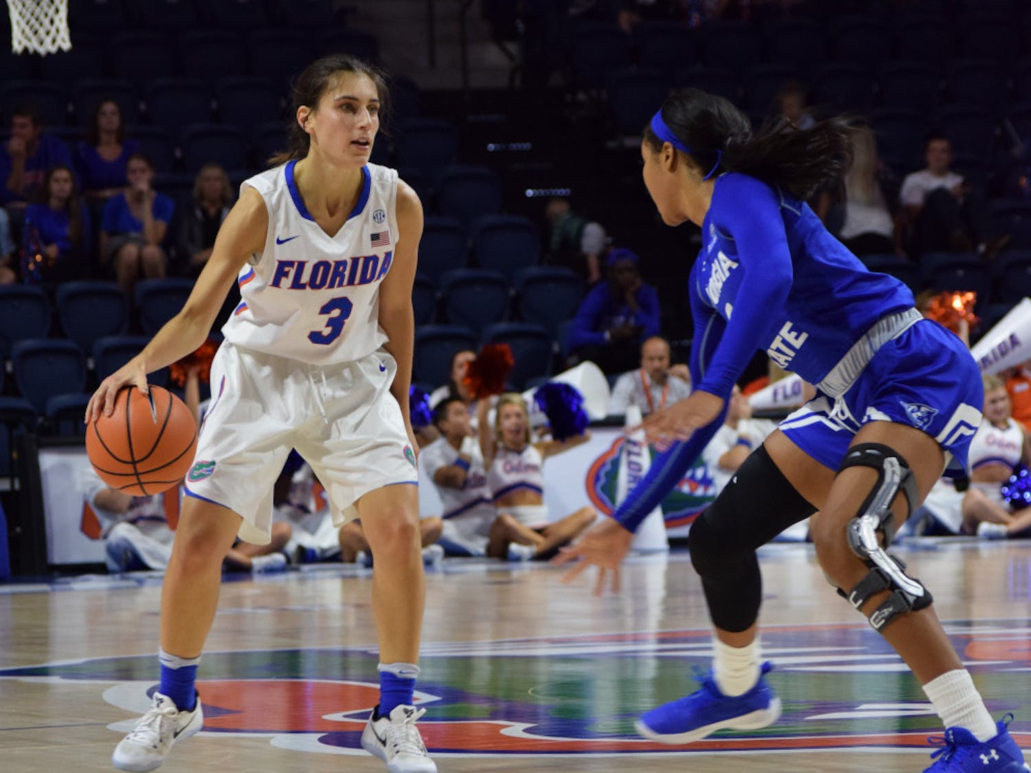 Florida transfer guard Funda Nakkasoglu (3) is still bothered by an ankle injury suffered on Nov. 21.